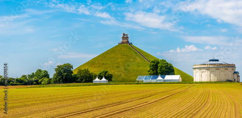 Photo View at the Watrloo Hill with Memorial Battle opf Waterloo in Belgium