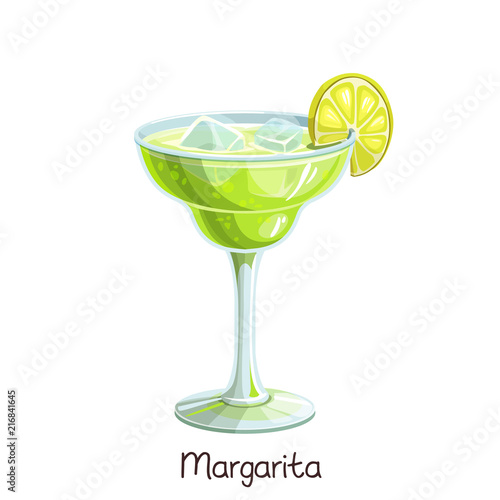 Photo margarita cocktail with lime