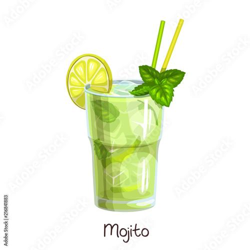 Wallpaper Mural glass mojito cocktail