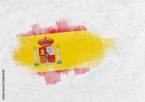 Wallpaper Mural Composite image of spain national flag