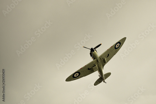 Canvas Print Spitfire doing a manoeuvre