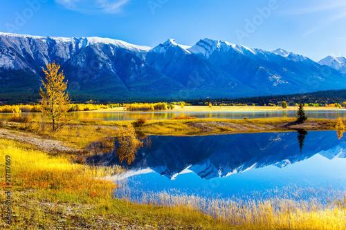 The water of fantastic Abraham lake