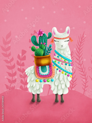Fototapeta Cute llama