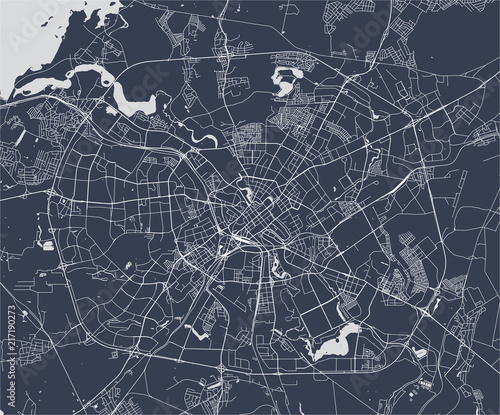 Photo map of the city of Minsk, Belarus