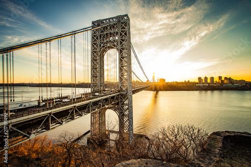 Obraz na płótnie George Washington Bridge Sunrise