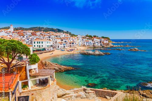 Canvas-taulu Sea landscape with Calella de Palafrugell, Catalonia, Spain near of Barcelona
