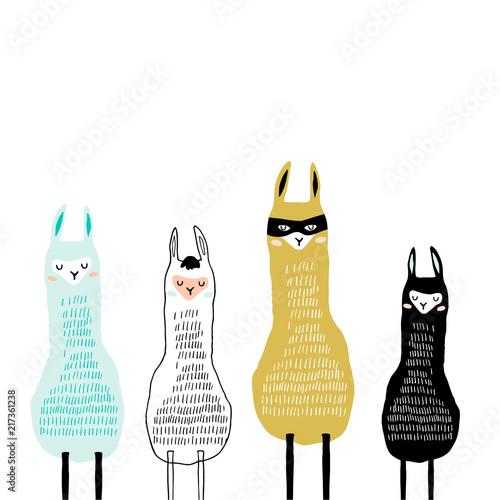 Canvas Print Creative llamas pprint
