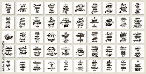 Wallpaper Mural Set of cards with quotes.
