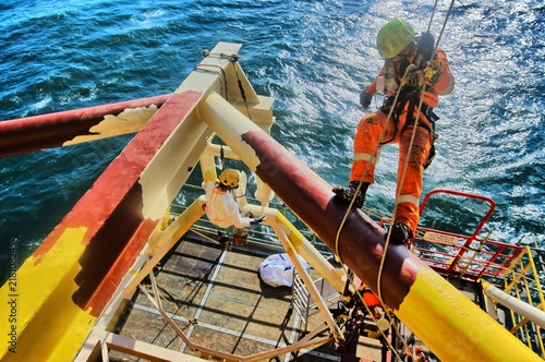 Rope Access Offshore Painting