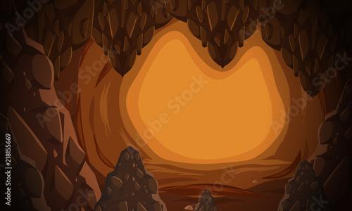 Foto A underground cave scene