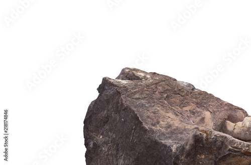 Cuadros en Lienzo Rock cliff in nature isolated on white background.
