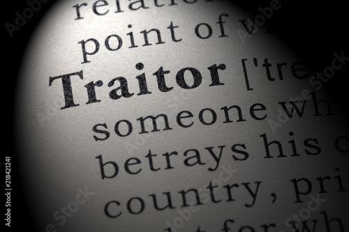 Fotografia definition of traitor