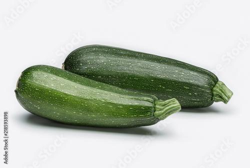 Fresh vegetables. Still lifes. Two green squash.