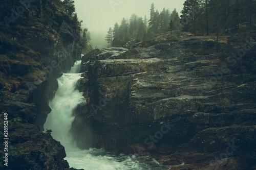 Raw Foggy Waterfalls