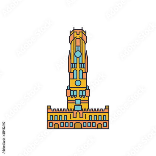 Tableau sur Toile Tower icon, cartoon style