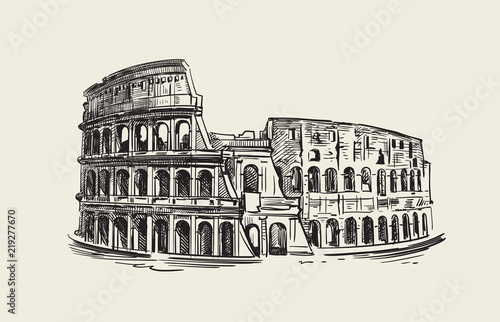 Leinwand Poster Colosseum in Rome