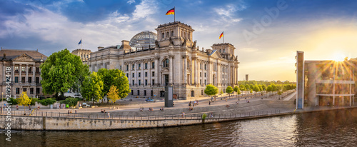 berlin government district with Spree river