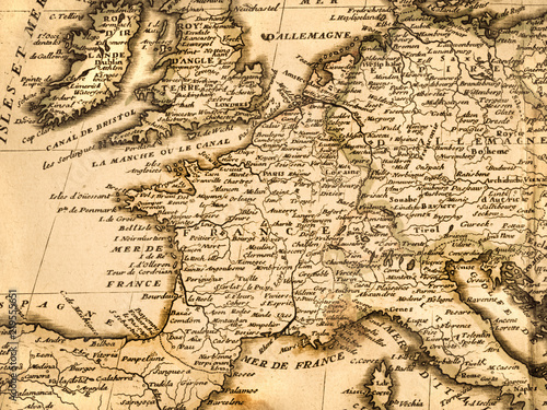 Canvas Print 古地図 ヨーロッパ