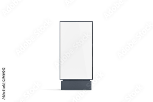Photo Blank white pylon banner mockup, front view, isolated, 3d rendering