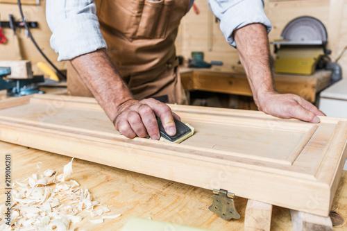 detail of carpenter at work Fototapet