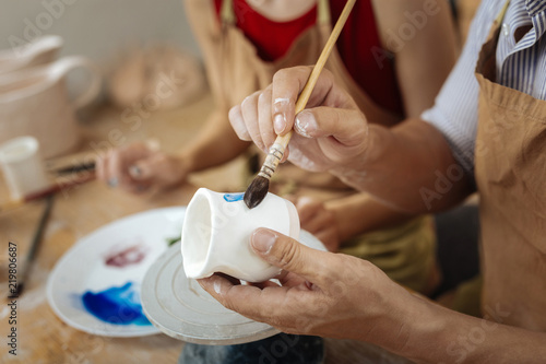 Painting brush Fotobehang