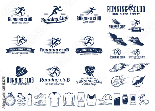 Photo Running logo, icons and design elements