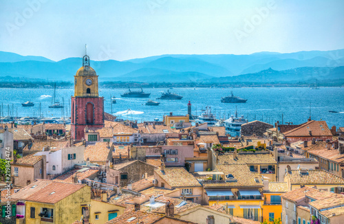 Obraz na plátně Aerial view of Saint Tropez, France