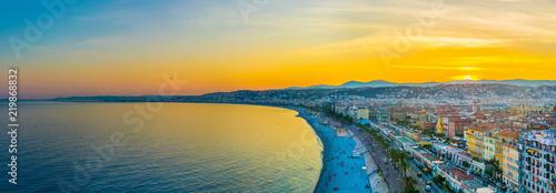 Fotografia Sunset view of Nice, France