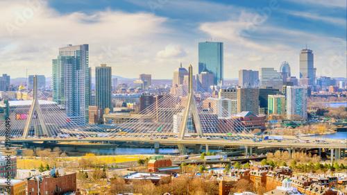 Fotografia The skyline of Boston in Massachusetts, USA