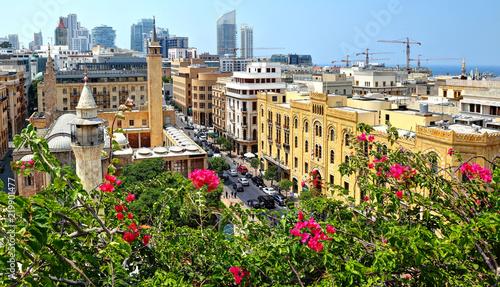 Fototapeta premium Latem śródmieście Bejrutu