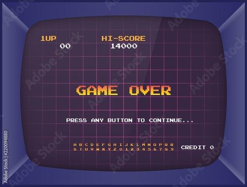 Foto Retro arcade game machine
