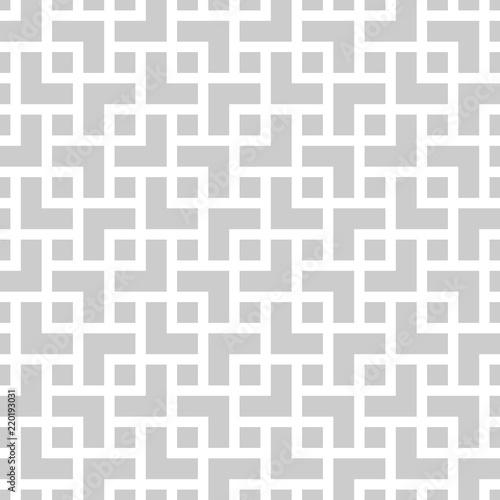 Fototapeta Geometric monochrome seamless pattern in asian style