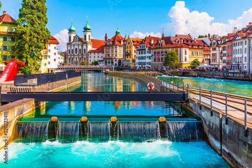 Fotografia Old Town architecture of Lucerne, Switzerland