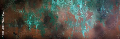 Rusty metal texture, background, design, pattern, long banner