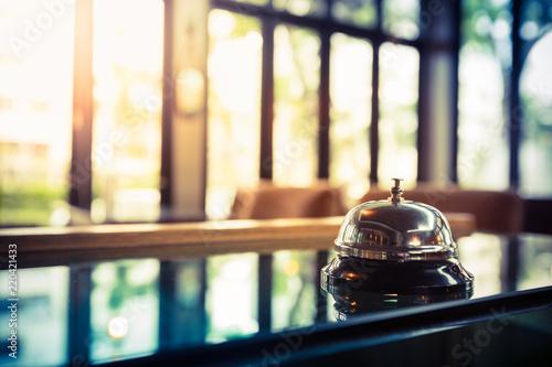 Obraz na plátně Restaurant bell vintage