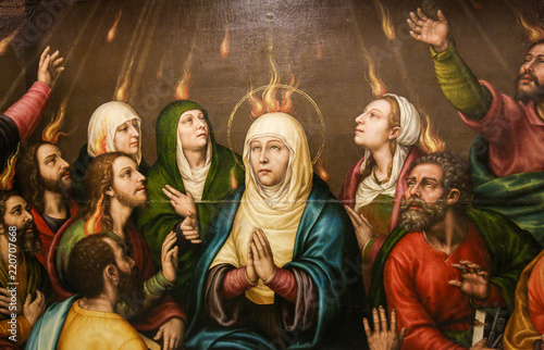 Wallpaper Mural Mary and the Apostles at Pentecost