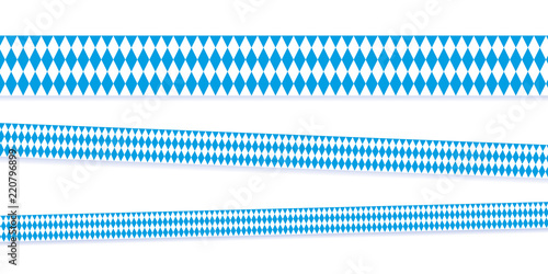 Fotomural ribbons in bavarian colors blue and white