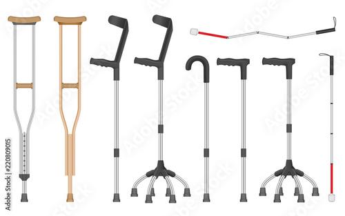 Obraz na płótnie Crutches icon set