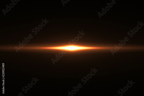Canvas Print gold warm color bright lens flare rays light flashes leak movement for transitio