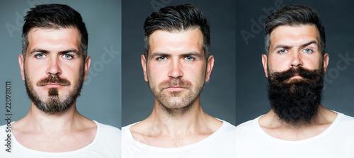 Stampa su Tela Bearded man or hipster set