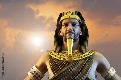Obraz na plátně 3D Illustration of a ancient Egyptian Pharaoh render 3D