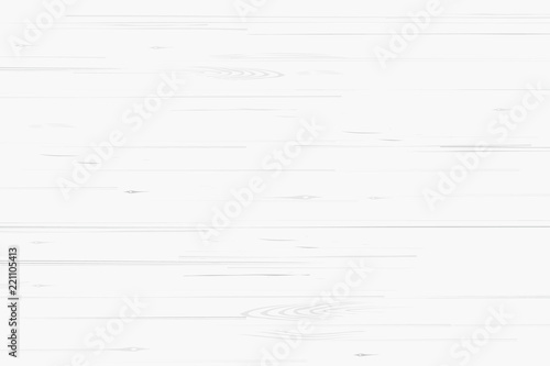 Wallpaper Mural White wood pattern and texture for background. Vector.