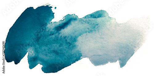 blue blot of watercolor