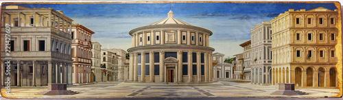 Canvas Print Urbino, Italy, The ideal city, Piero della Francesca, national gallery