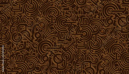 Fotografia Seamless Vector Mechanical Pattern Texture