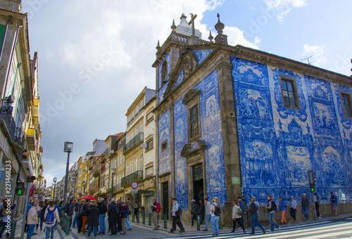 Fototapeta Porto,Portugal-28/04/2018:Capela das Almas,Chapel of Souls,or Santa Catarina's C