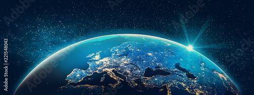 Planet Earth - Europe city lights