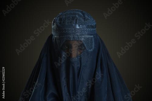 Eastern woman wearing the burqa