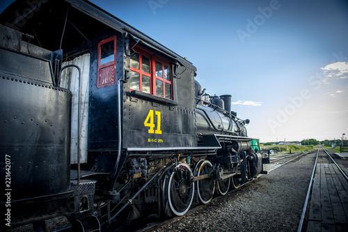 Old vintage steam locomotive
