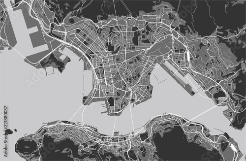 Fotografie, Obraz map of the city of Hong Kong, Special Administrative Region of the People's Repu